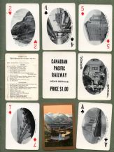 Antique playing cards Advertising Canadian Pacific Railway. 1920`s